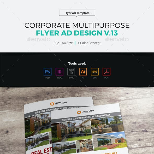 Corporate Multipurpose Flyer Ad v13
