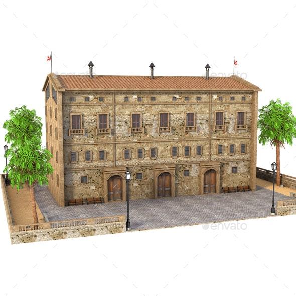Classic Building - Architecture 3D Renders
