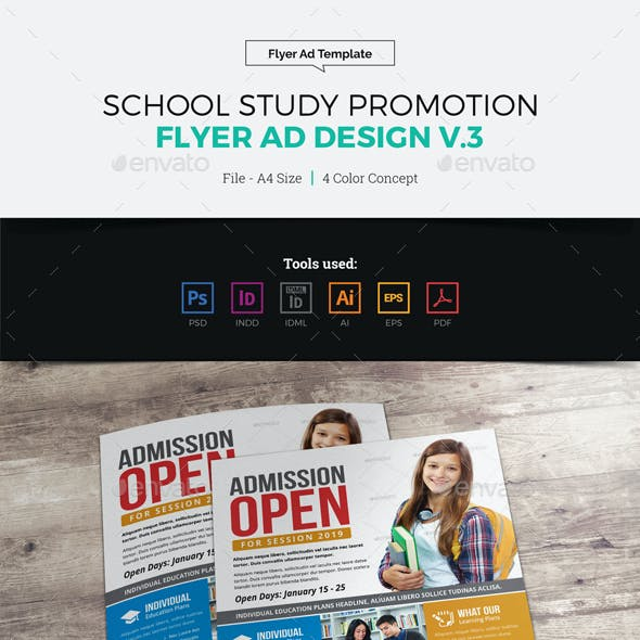 School Study Promotion Flyer Ad v3