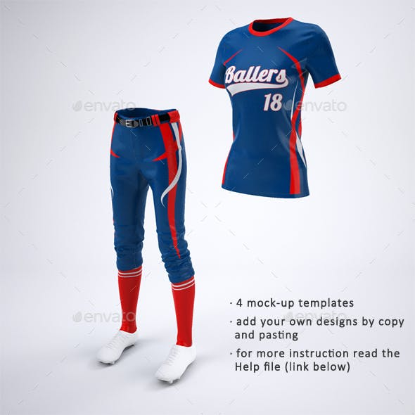 Women's Softball Jerseys and Uniform Mock-Up