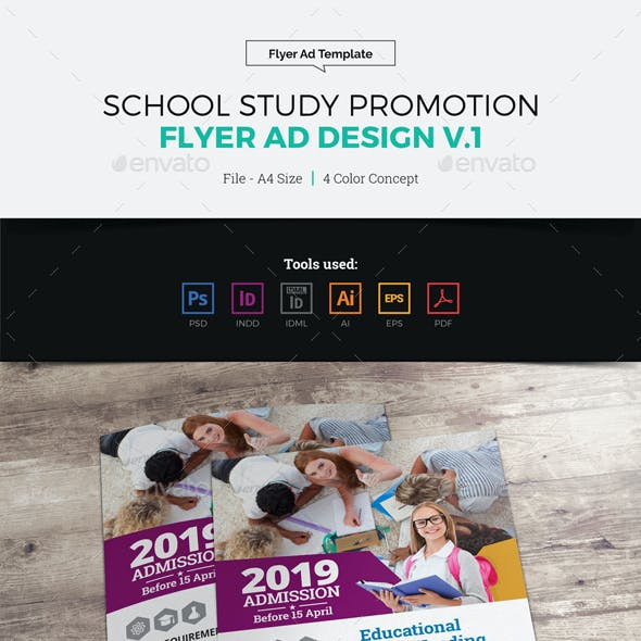 School Study Promotion Flyer Ad v1