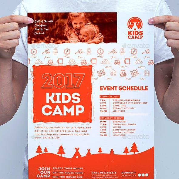 A3 Kids Camp Poster Template