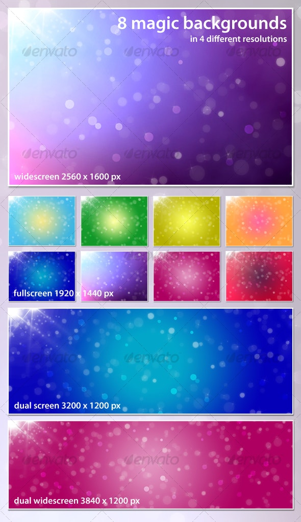Magic background pack - Backgrounds Graphics