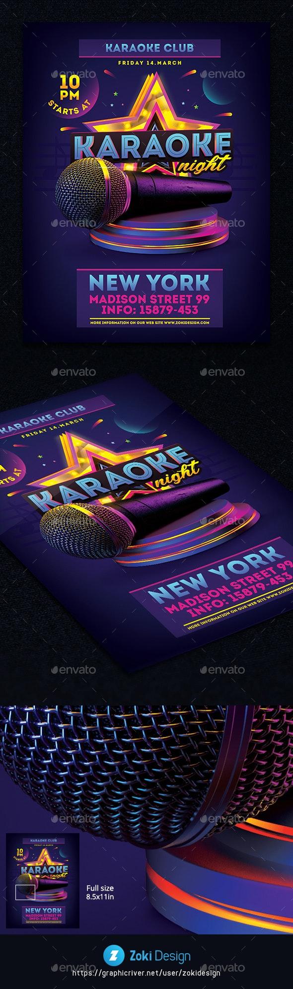 Karaoke Party Flyer - Events Flyers