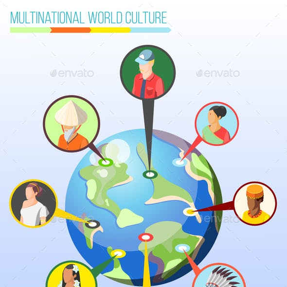 Multinational World Culture Design Concept