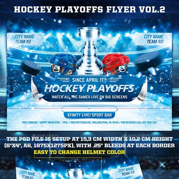 Hockey Playoffs Flyer Template vol.2