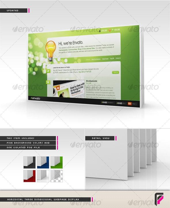3D Webpage Display - Miscellaneous Web Elements