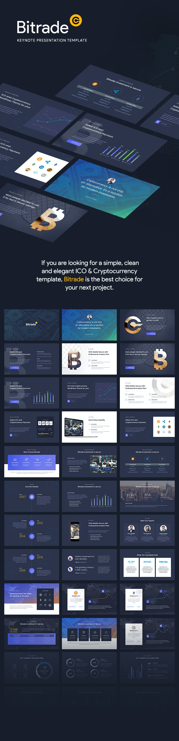 Cryptocurrency - Keynote Template Presentation - Keynote Templates Presentation Templates