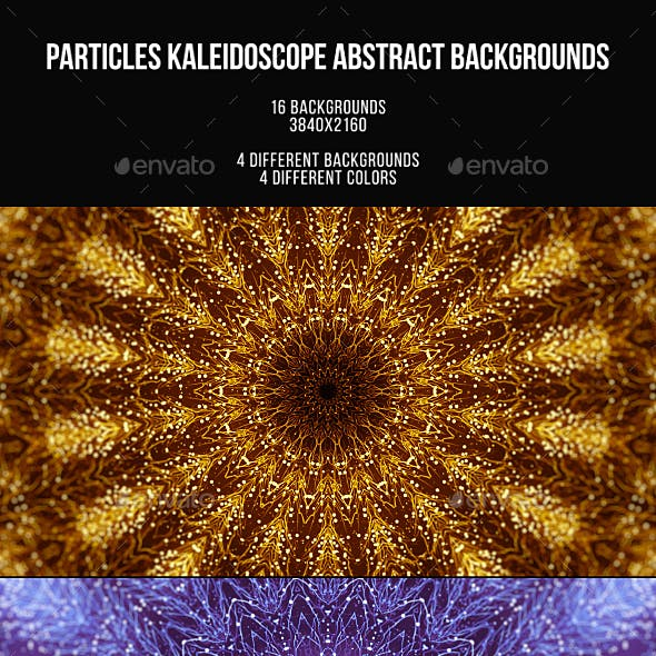 Particles Kaleidoscope Abstract Backgrounds