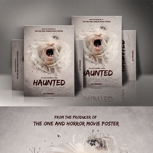 Haunted Movie Poster Template