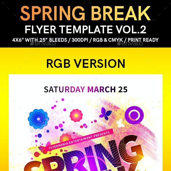 Spring Break Flyer Template Vol.2