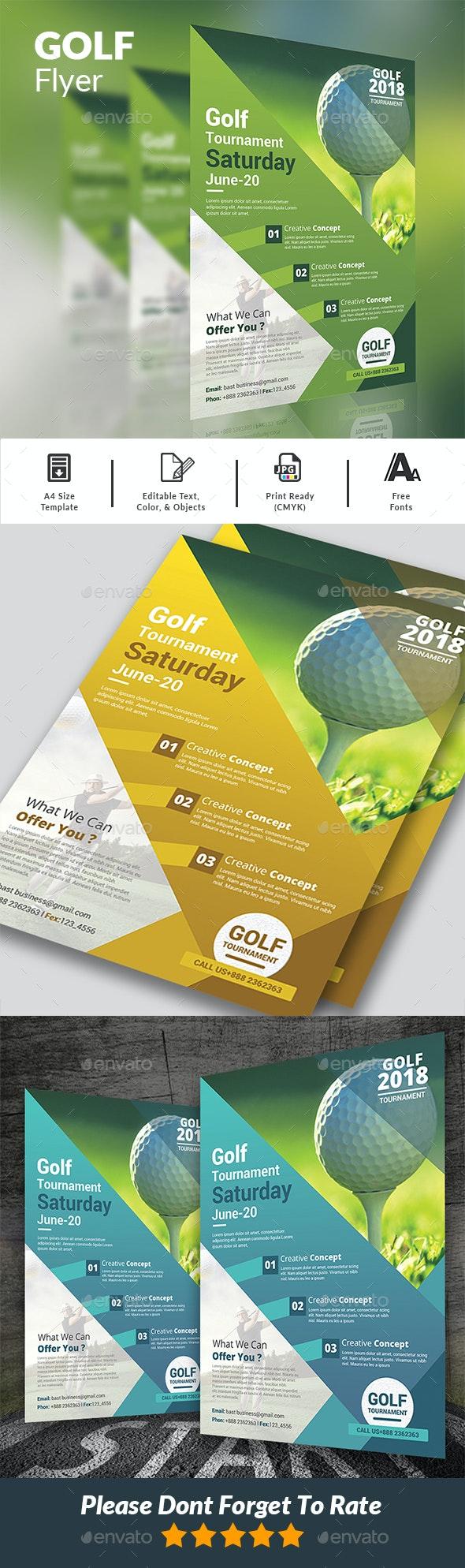 Golf Flyer - Events Flyers