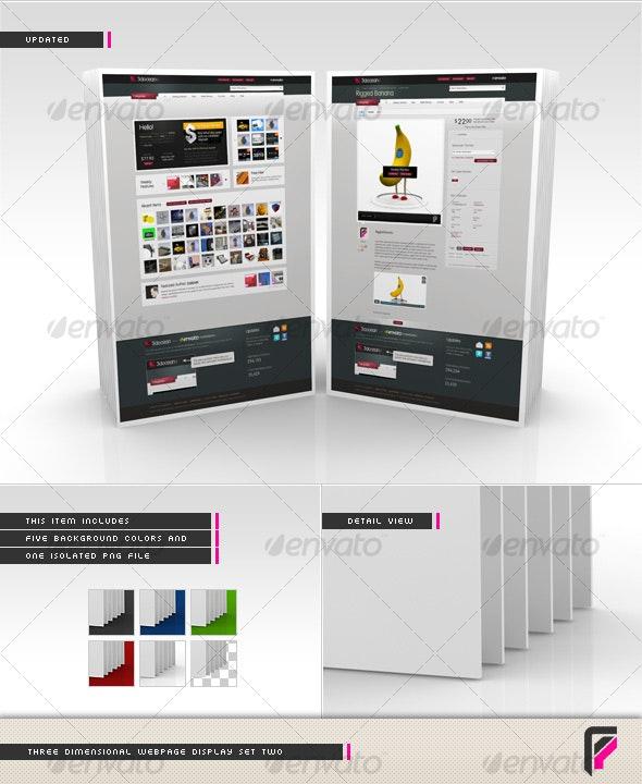 3D Webpage Display (Set Two) - Miscellaneous Web Elements