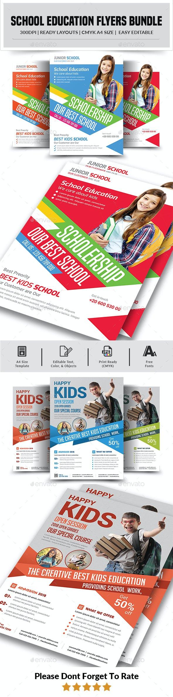 School Education Flyers Bundle