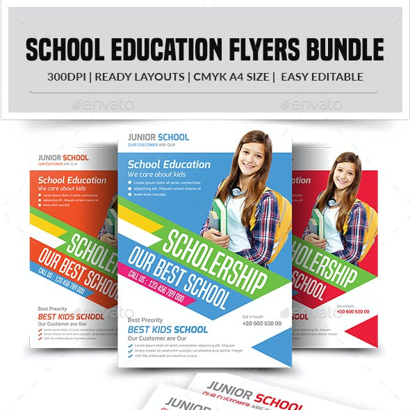 School Education Flyers Bundle