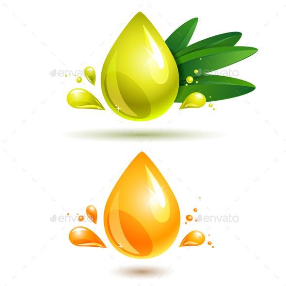 Olive and Orange Oil Drop