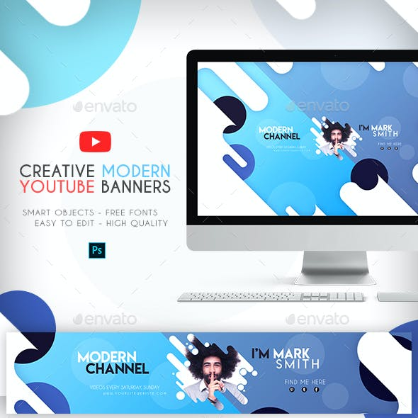 4 Creative Modern YouTube Banners