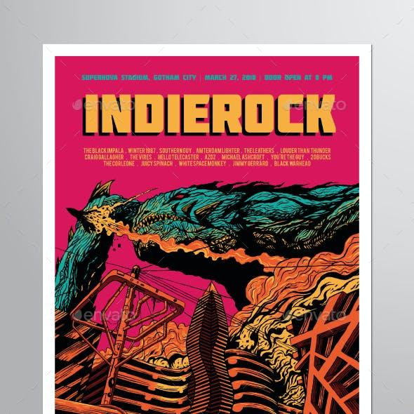 Indie Rock Vol. 10 Flyer Poster