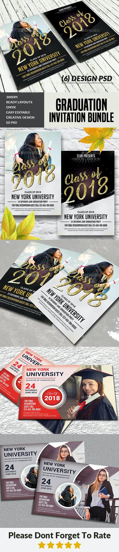 Graduation Invitation Cards Bundle