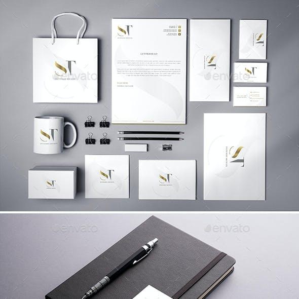 Realistic Branding - Stationery - Corporate ID Mockups Set1