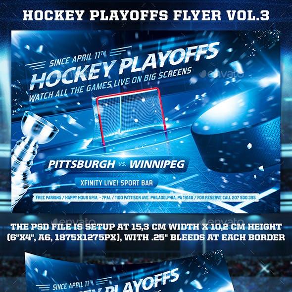 Hockey Playoffs Flyer Template vol.3