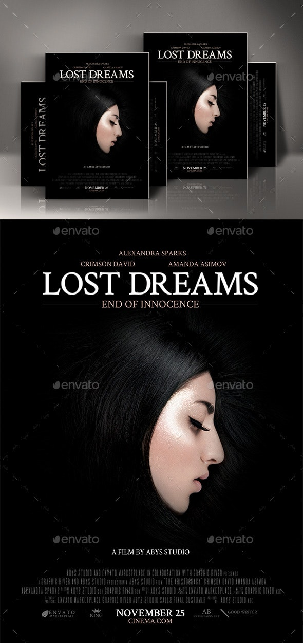 Lost Dreams Movie Poster Template - Miscellaneous Events