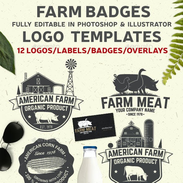 American Farm Badges and Labels