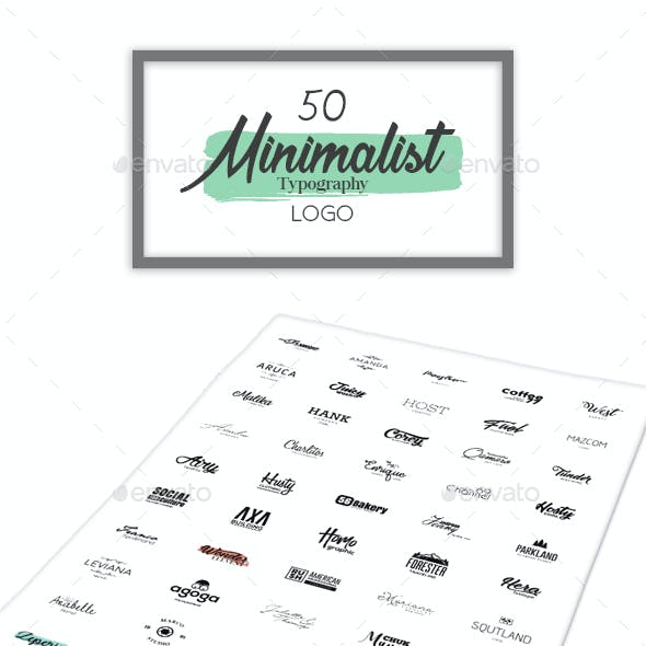 50 Minimalist Typography Logo