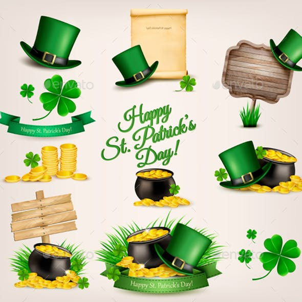 Set of St. Patrick's Day Related Icons