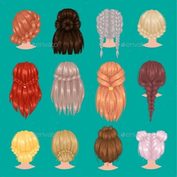 Female Hairstyles Back Side Portrait