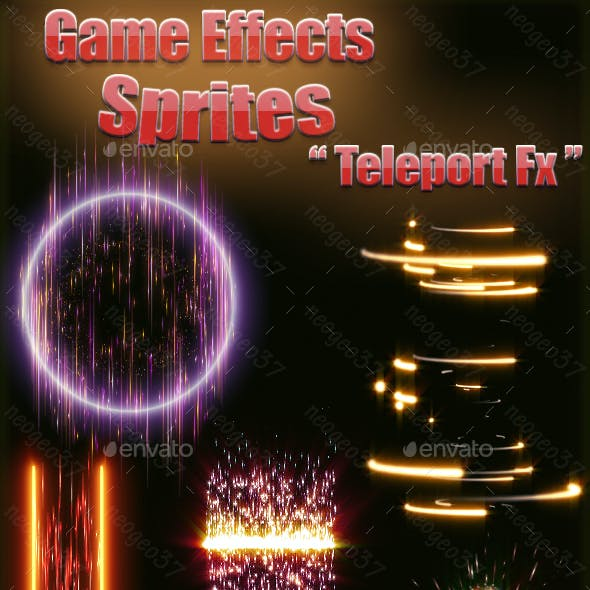 Game Effects Sprites Teleport Fx