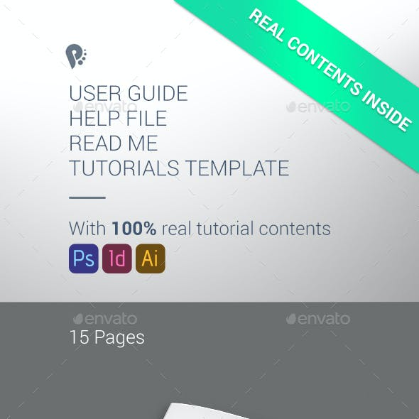 Multi-purpose Help File User Guide Read Me Instructional Template with Real Contents vol 2.0