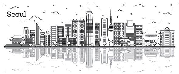 Seoul South Korea City Skyline