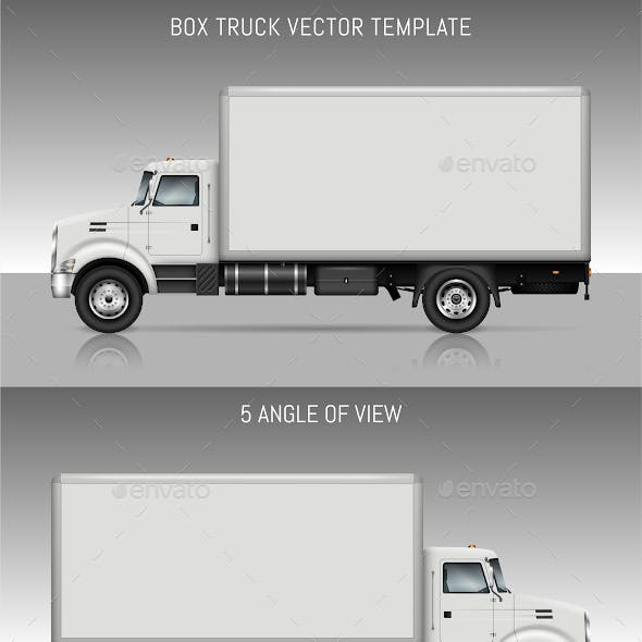 Box Truck Vector Template