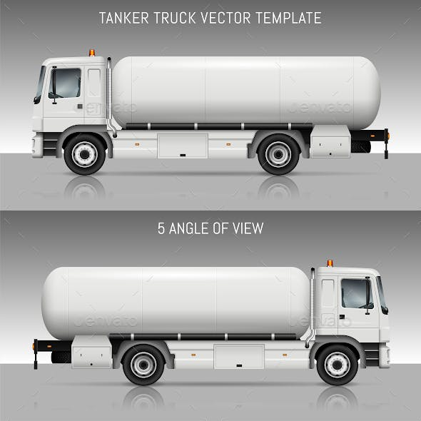 Tanker Truck Vector Template