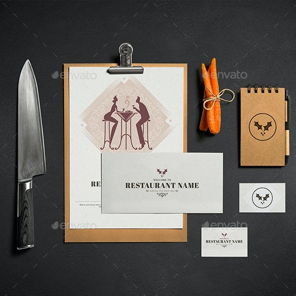 Classic And Elegant Restaurant Menu