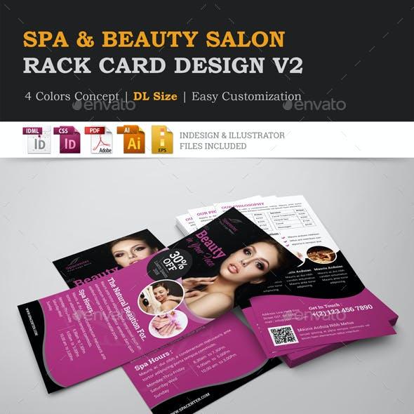 Spa Beauty Salon Rack Card DL Flyer Design