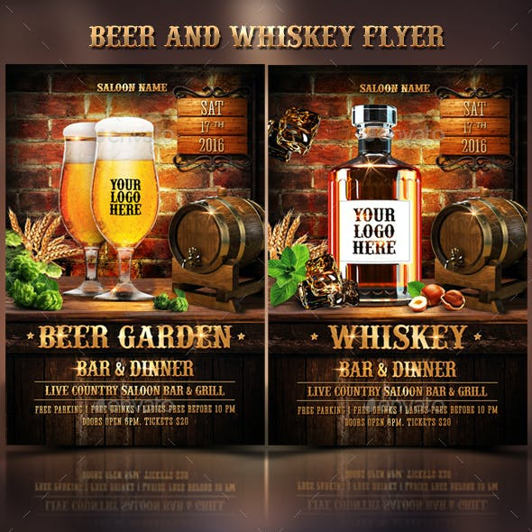 Beer & Whiskey Flyers