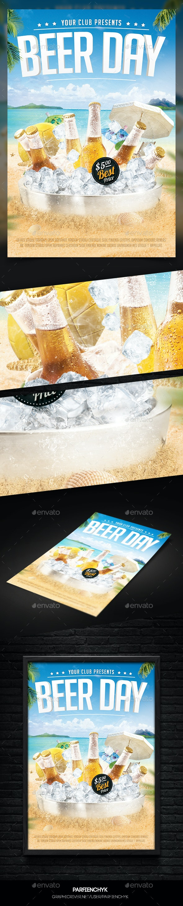 Beer Flyer Template - Clubs & Parties Events