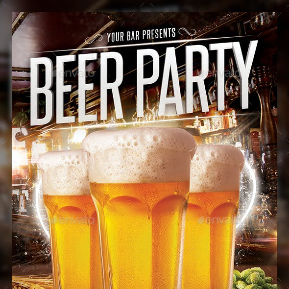 Beer Day Party Flyer Template
