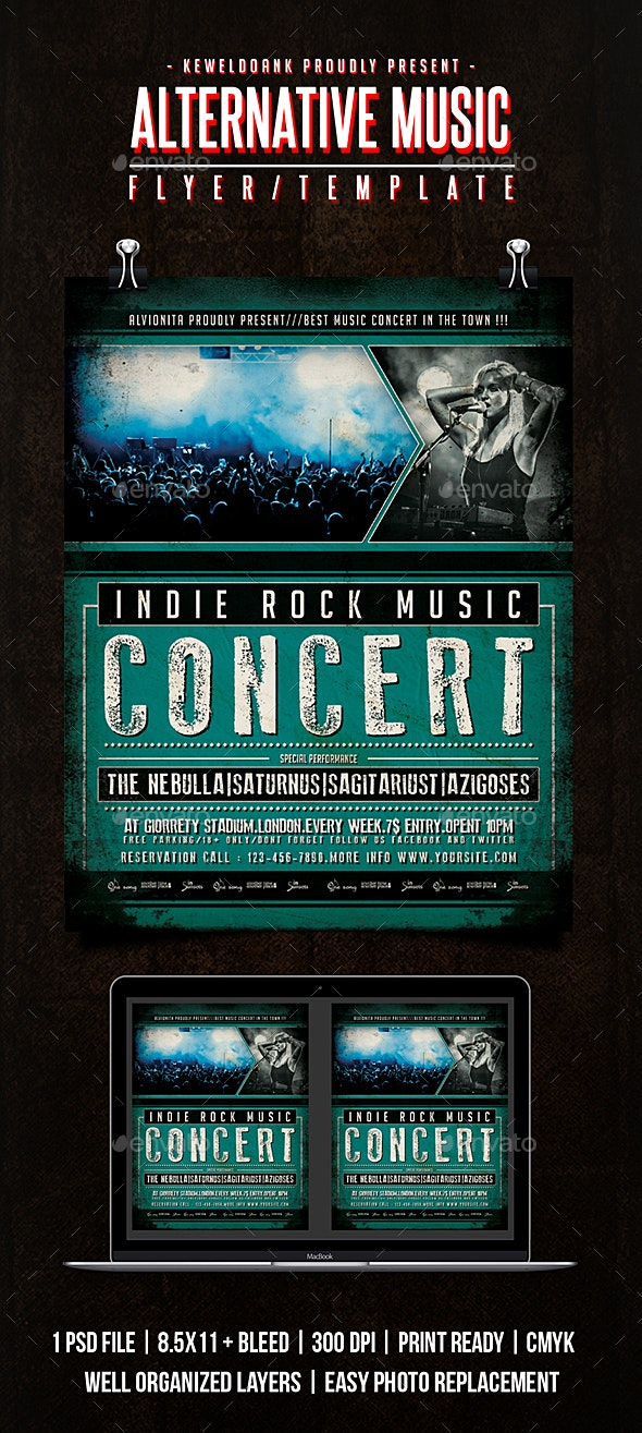 Alternative Music Flyer / Poster - Concerts Events