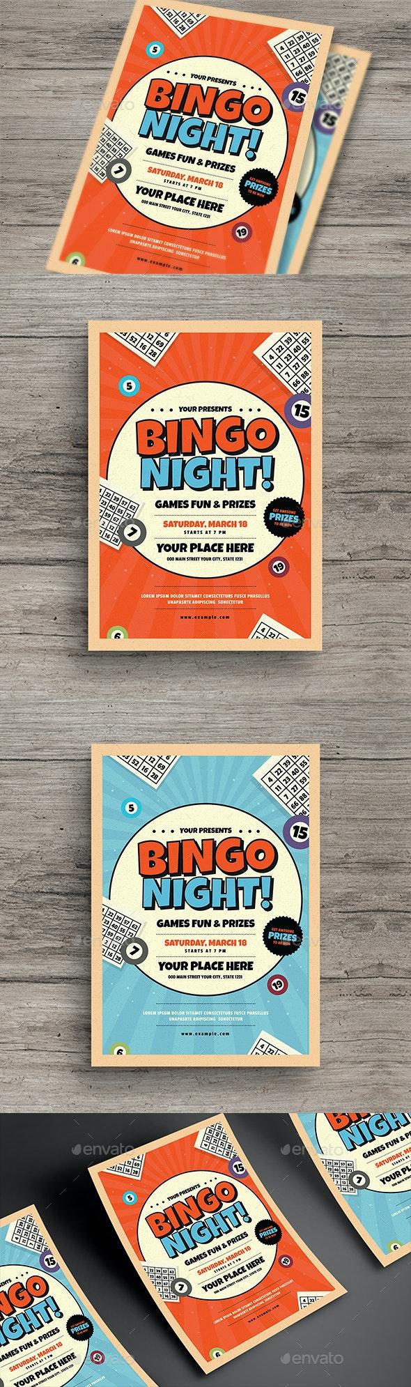 Bingo Night Event Flyer - Miscellaneous Events