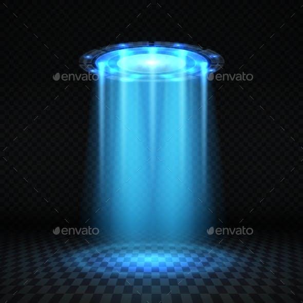 UFO Blue Light Beam