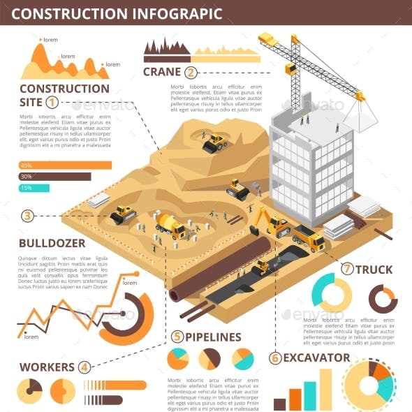 Building Construction Isometric Vector