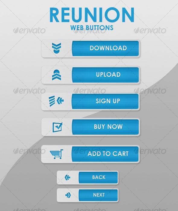 REUNION web buttons - Buttons Web Elements