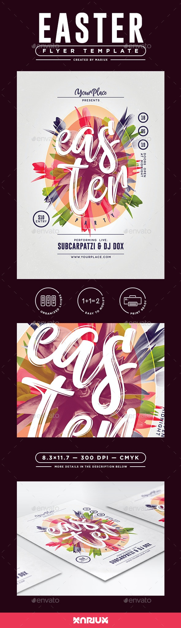 Easter Flyer/Poster Template - Events Flyers