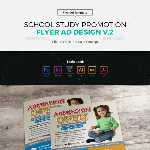 School Study Promotion Flyer Ad v2