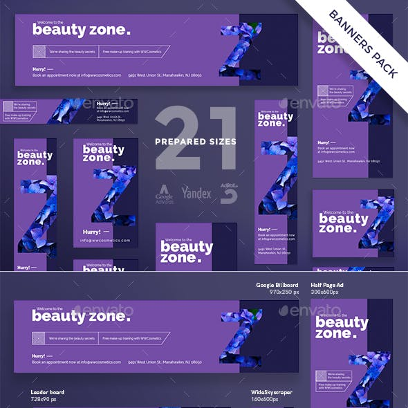 Beauty Zone Banner Pack