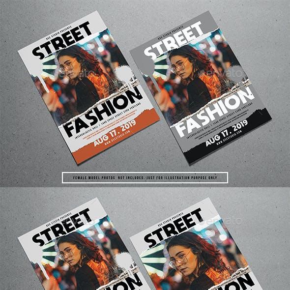 Street Fashion Torn Flyer
