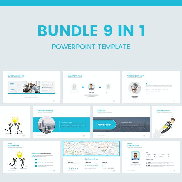 Bundle 9 In 1 Business Powerpoint Template